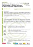 Eliminació de nitrogen en purins (fracció líquida) a través de processos de electro-coagulació i electro-oxidació