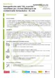 Nanopartícules amb TiO2 suportat i nanofibres per a la foto-eliminació de contaminants farmacèutics i E. coli.
