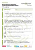 Eliminació de compostos orgànics emprant fotocatàlisi heterogènia