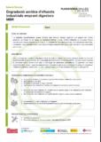 Degradació aeròbia d'efluents industrials emprant digestors MBR
