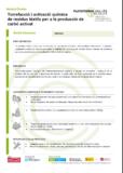 Torrefacció i activació química de residus tèxtils per a la producció de carbó activat