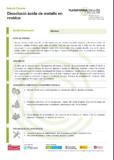 Dissolució àcida de metalls en residus