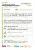 Torrefacció de residus agroalimentaris lignocel·lulòsics per a la producció de carbó