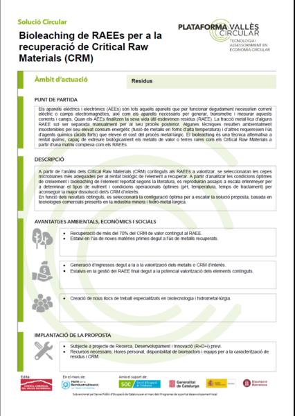 Bioleaching de RAEEs per a la recuperació de Critical Raw Materials (CRM),