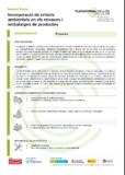 Incorporació de criteris ambientals en els envasos i embalatges de productes