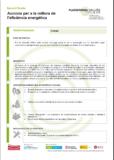 Accions per a la millora de l'eficiència energètica
