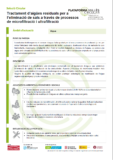 Tractament d'aigües residuals per a l'eliminació de sals a través de processos de microfiltració i ultrafiltració