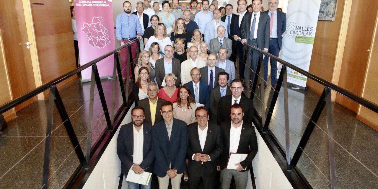 Acord     pioner     al     Vallès     Occidental     per incorporar  els  principis  de  l'economia  circular en les polítiques de desenvolupament econòmic, social i ambiental