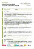 Ajust de la temperatura correcta i comunicació interna