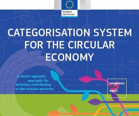 Nou sistema de categorització de les activitats de l'Economia Circular